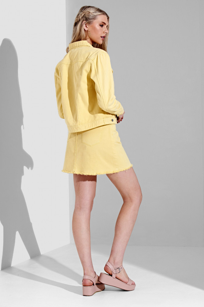a3dfd1bface5 Dámska žltá riflová bunda Urban Bliss Farba  Žltá