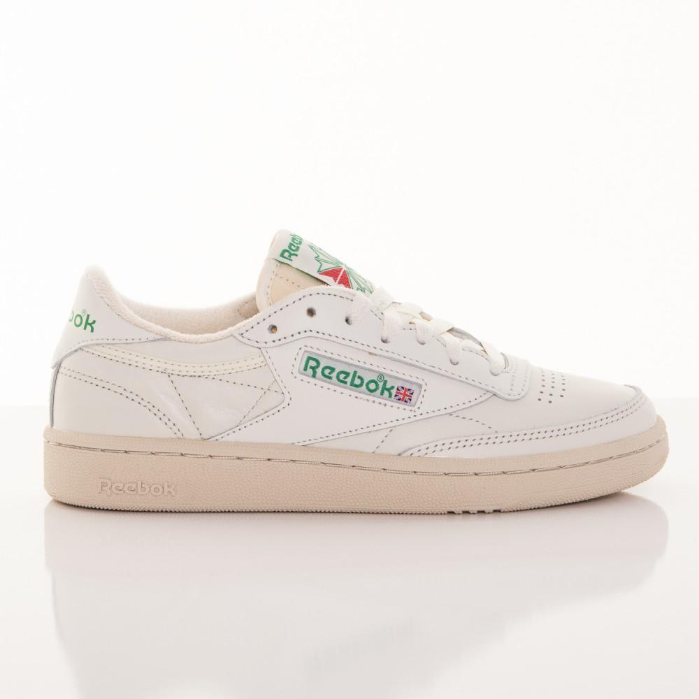 Dámske biele kožené tenisky Reebok Classic Club C 85 Vintage ... 50b2d6996b