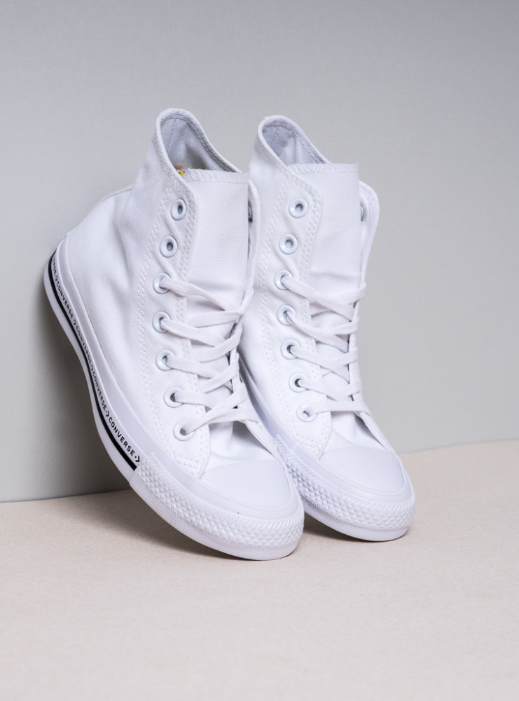 053373ac8a0d Dámske biele tenisky Converse Chuck Taylor All Star Wordmark Hi ...
