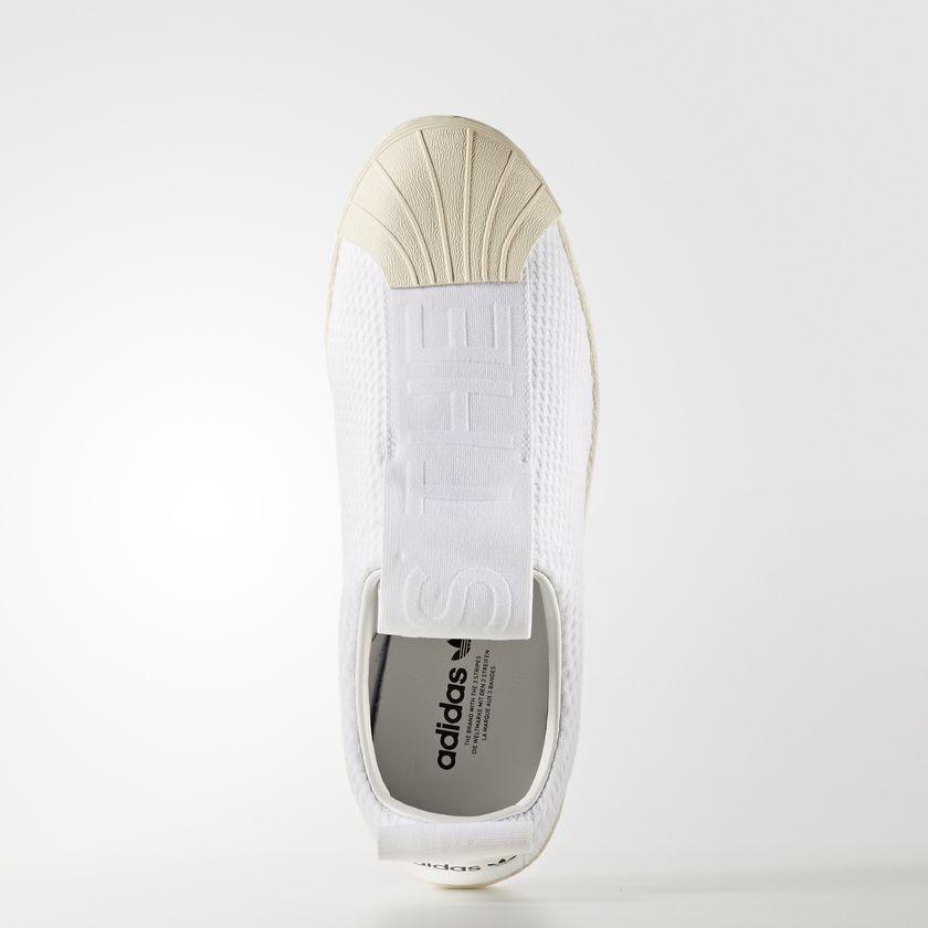 Dámske biele textilné tenisky Adidas Originals Superstar BW3S SlipOn ... e28cb7a8269