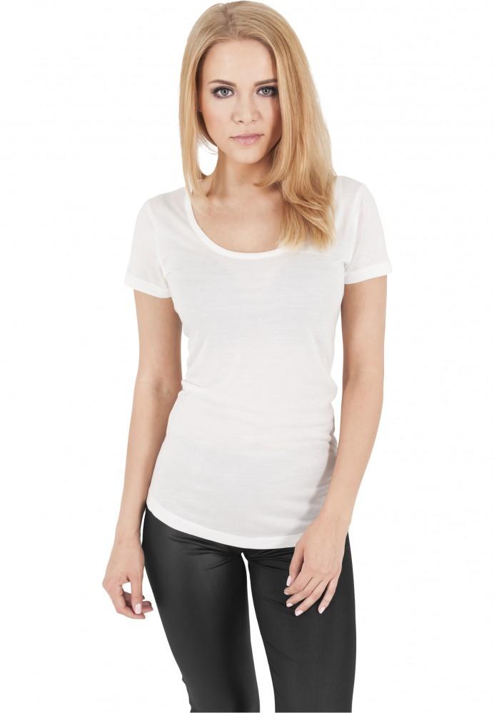 26d535376167 Dámske biele tričko Urban Classics Ladies Basic Viscon Tee - Dámske ...