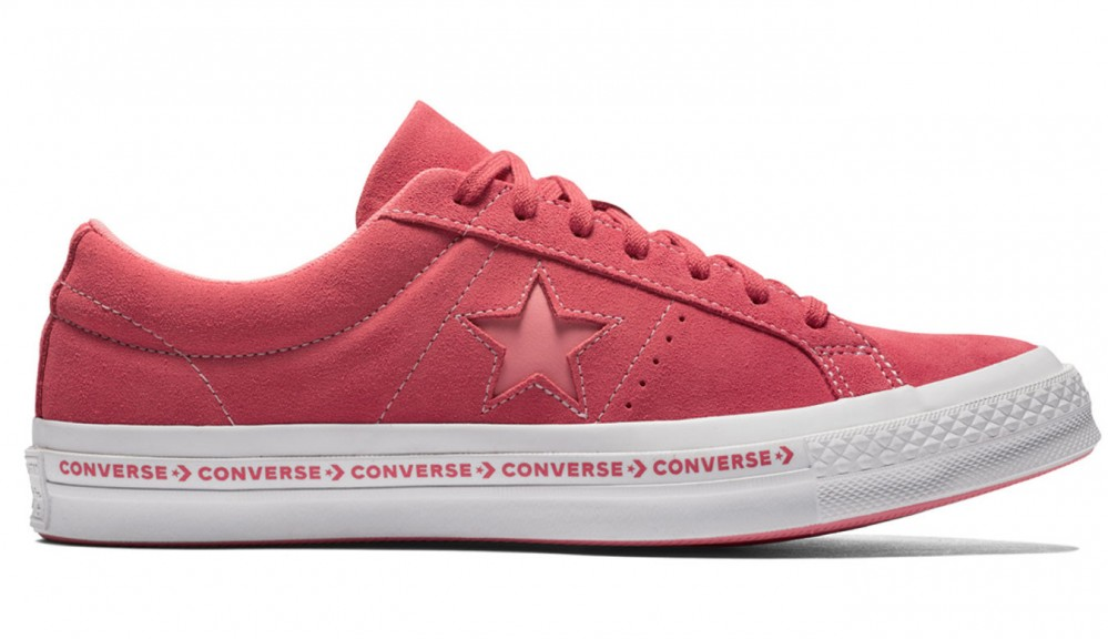 Dámske červené tenisky Converse One Star Pinstripe - Dámske tenisky ... b3a9892b6d1