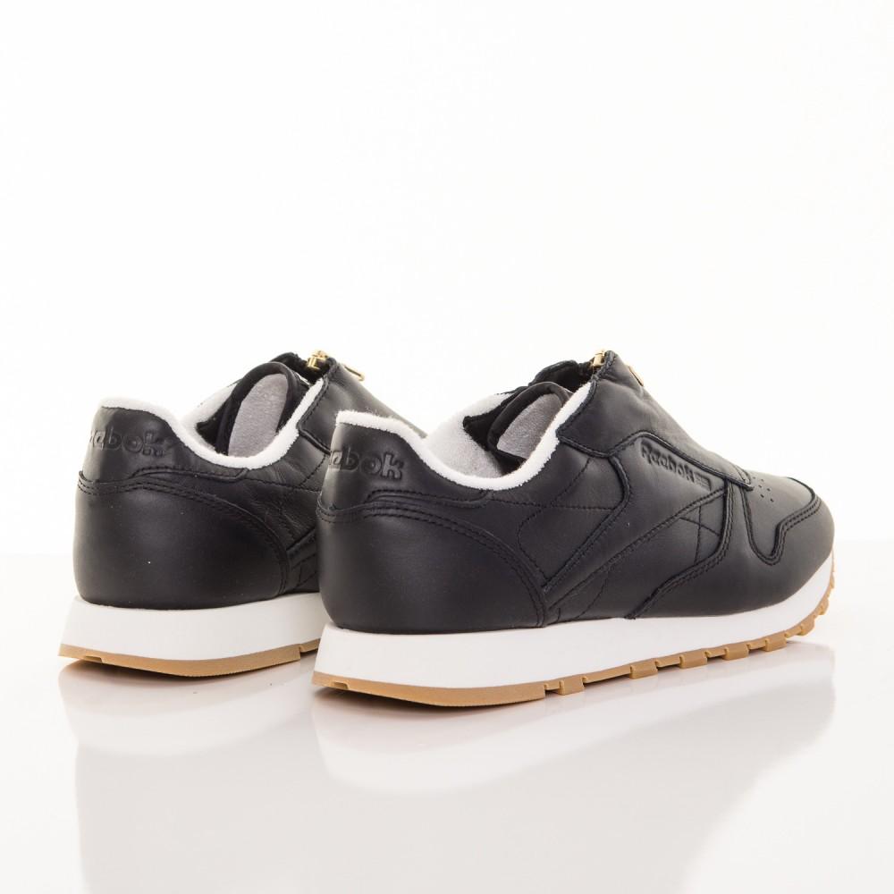 4880ad2862 Dámske čierne kožené tenisky so zipsom Reebok Classic - Dámske ...