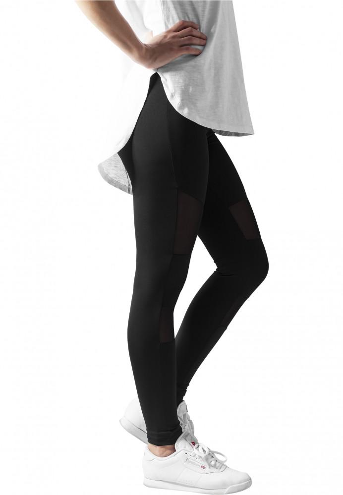 252e3022af20 Dámske čierne legíny URBAN CLASSICS Ladies Tech Mesh Leggings ...