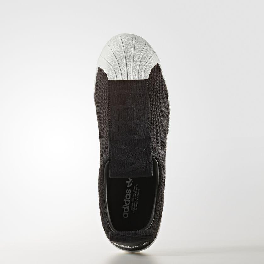 Dámske čierne textilné tenisky Adidas Originals Superstar BW3S SlipOn  3 5a3fdbed62c
