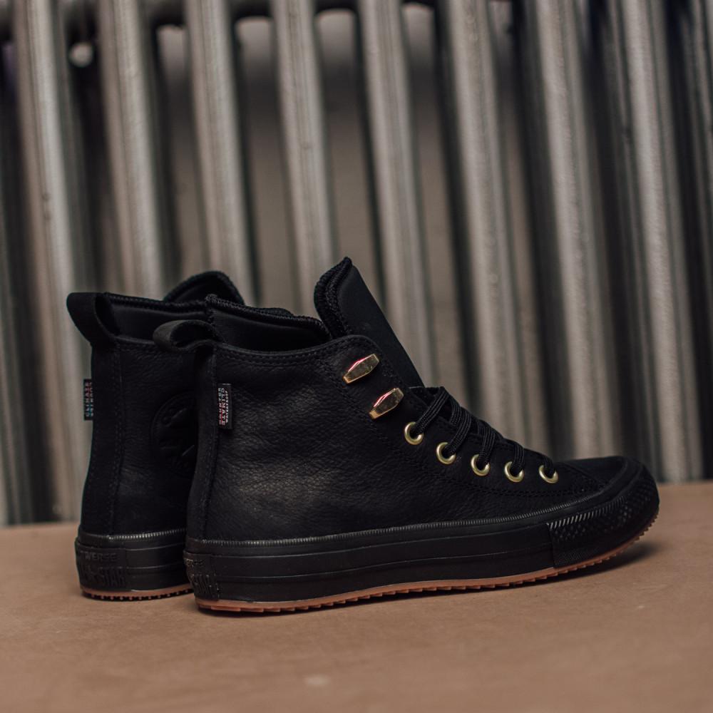 Dámske čierne vodeodolné kožené tenisky Converse Chuck Taylor All Star  6 97d28e18dd5