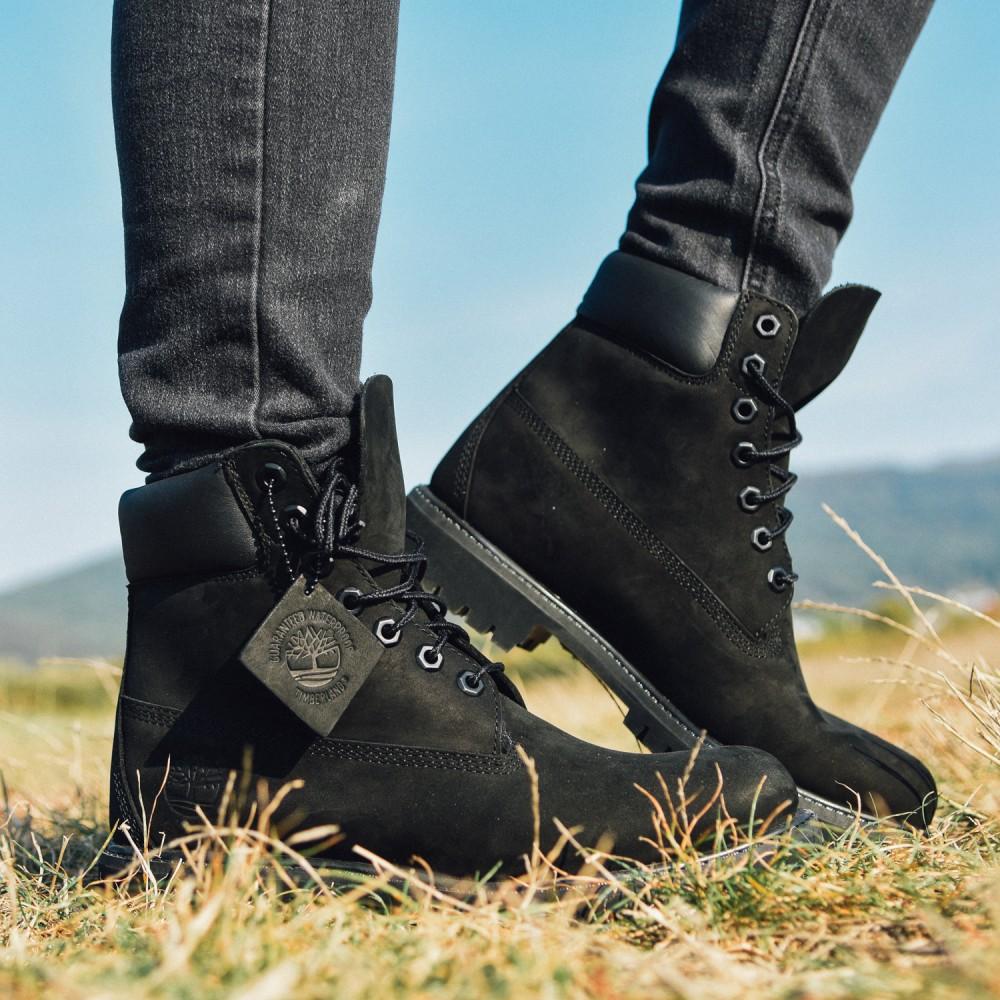 598ffdf243 Dámske čierne vodeodolné kožené zimné topánky Timberland 6-INCH ...