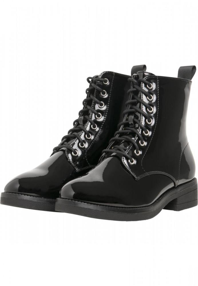 Dámske členkové topánky Urban Classics Lace Boot black