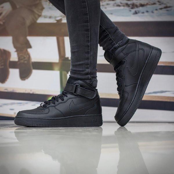 Dámske kotníkové tenisky Nike WMNS Air Force 1 Mid `07 LE Black