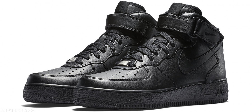 915a34ee9e4c7 Dámske kotníkové tenisky Nike WMNS Air Force 1 Mid `07 LE Black ...