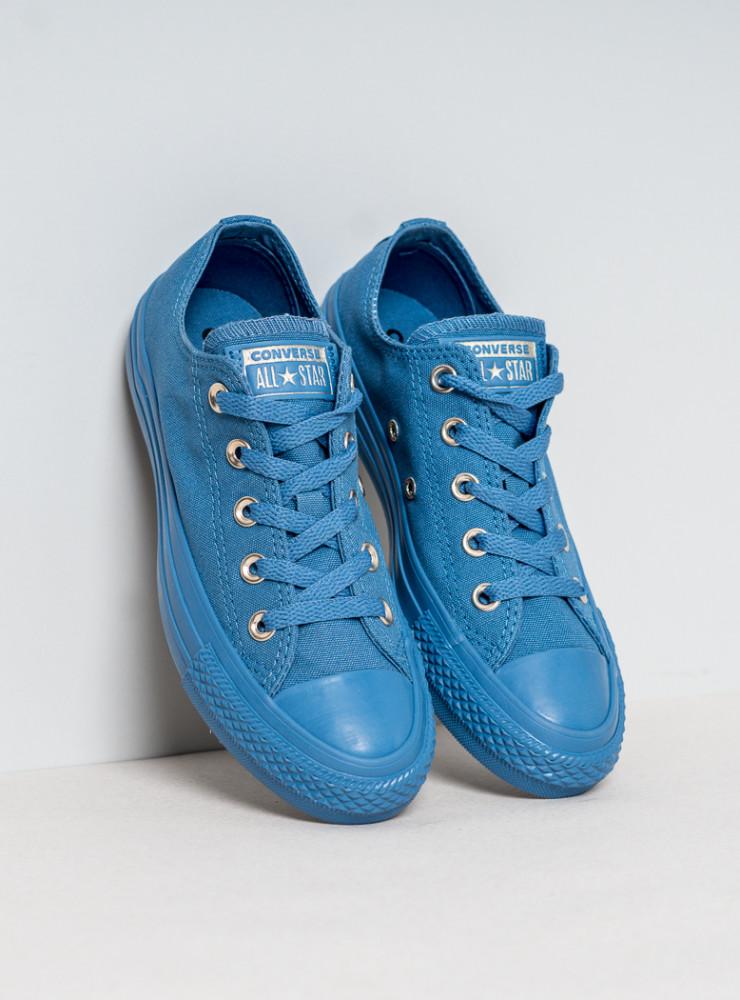 cbac6917c1a Dámske modré tenisky Converse Chuck Taylor All Star Mono Glam ...