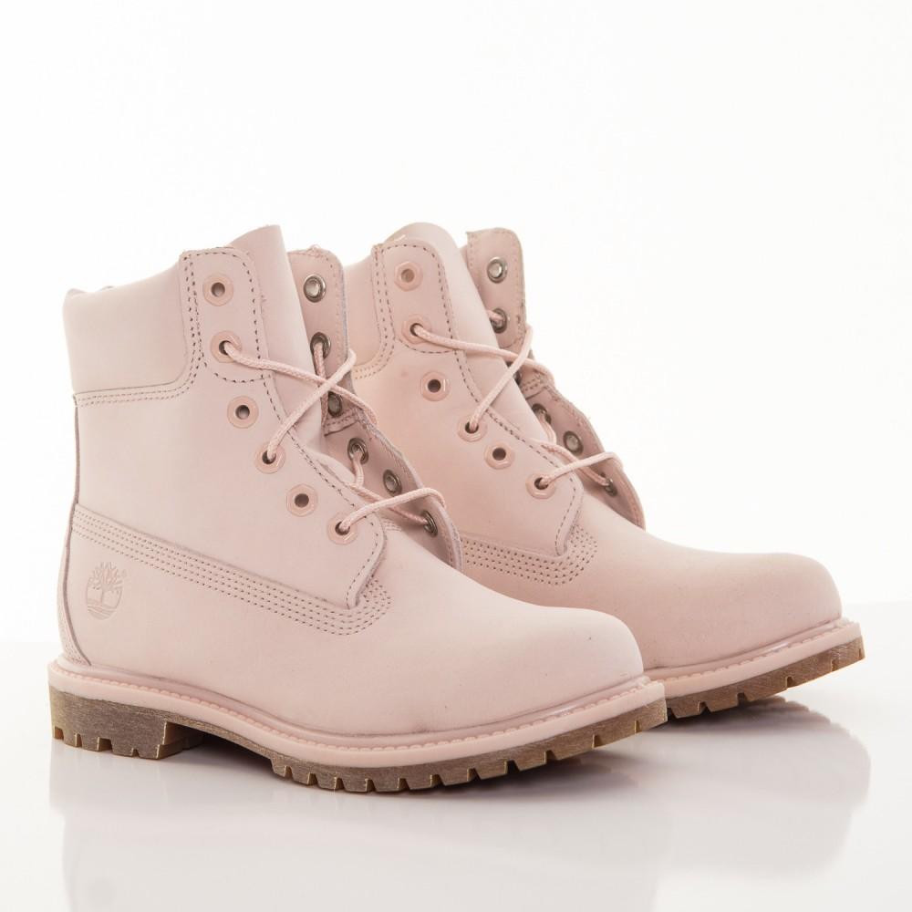 a0ba9c415 Dámske ružové vodeodolné kožené zimné topánky Timberland 6-INCH ...