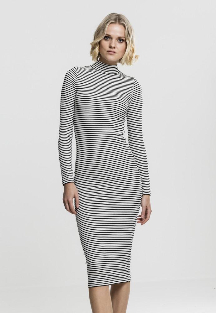 54baf358f201 Dámske šaty URBAN CLASSICS Ladies Striped Turtleneck Dress - Dámske ...