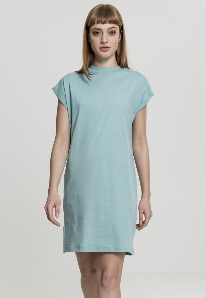 8862772d5098 Dámske šaty URBAN CLASSICS Ladies Turtle Extended Shoulder Dress bluemint