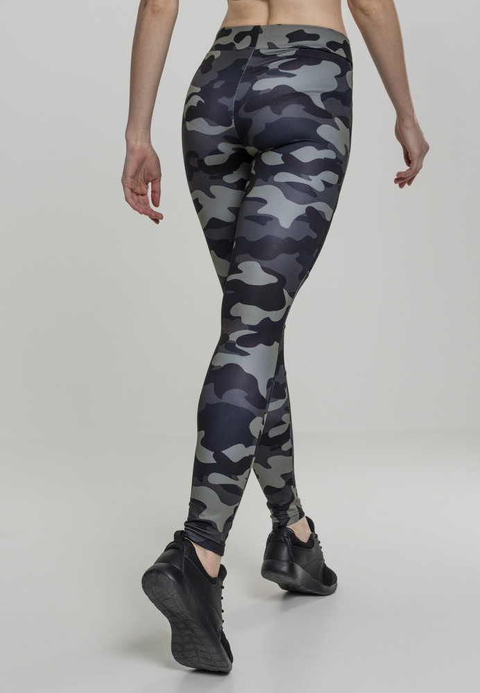 041a5b10f Dámske športové legíny URBAN CLASSICS Ladies Camo Tech Mesh Leggings  darkcamo/blk #1