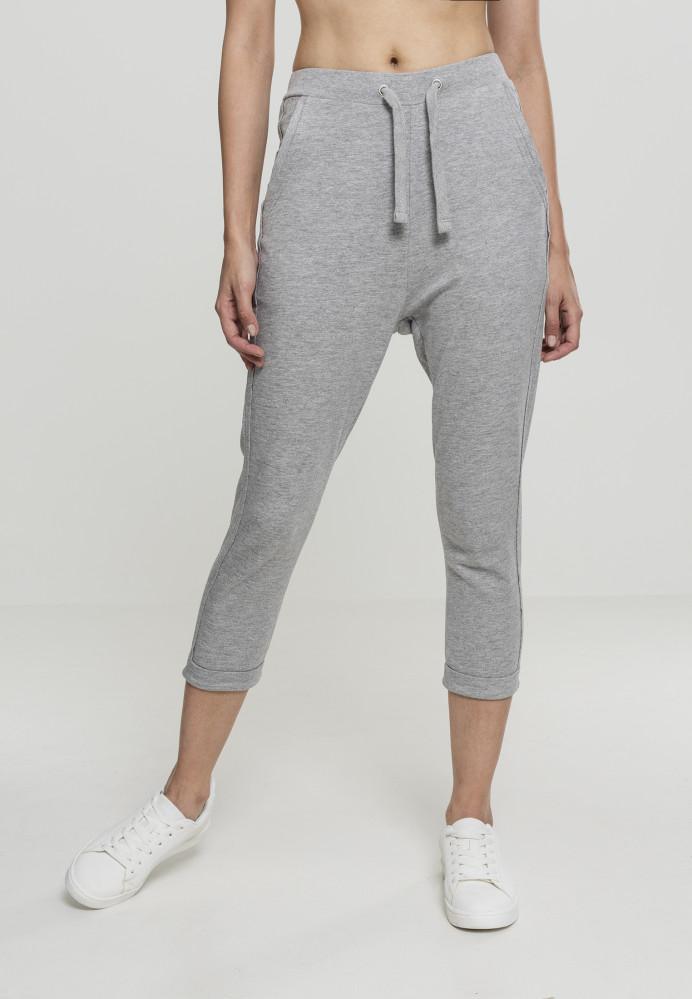 0e156dc7b0b9 Dámske teplákové kraťasy Urban Classics Ladies Open Edge Terry Turn Up  Pants grey