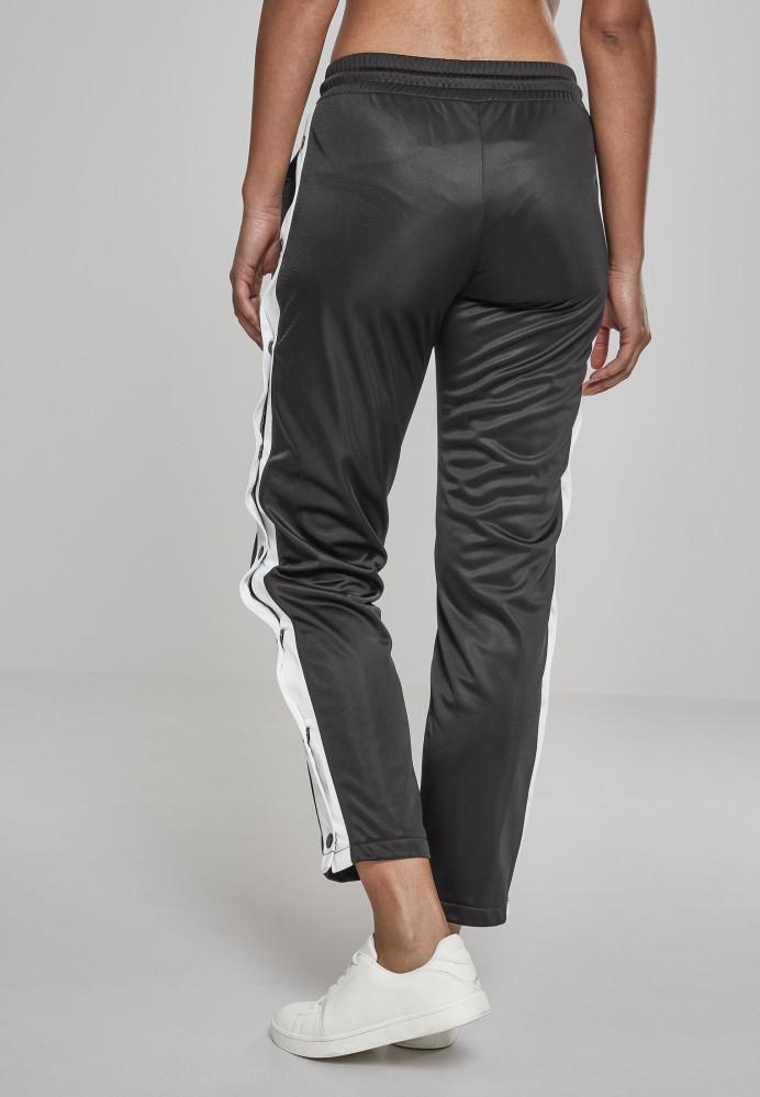 7b491311ffd4 Dámske tepláky URBAN CLASSICS Ladies Button Up Track Pants blk wht blk  2
