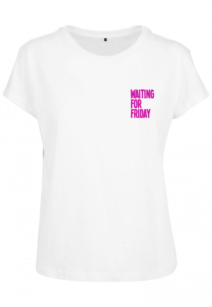 7eb762f1d0ff Dámske tričko MR.TEE Ladies Waiting For Friday Box Tee Farba  white pink