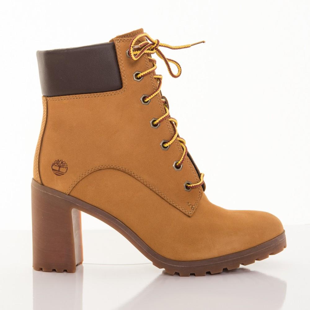 81f7a4b73d15 Dámske žlté kožené zimné topánky na opätku Timberland Allington 6-INCH