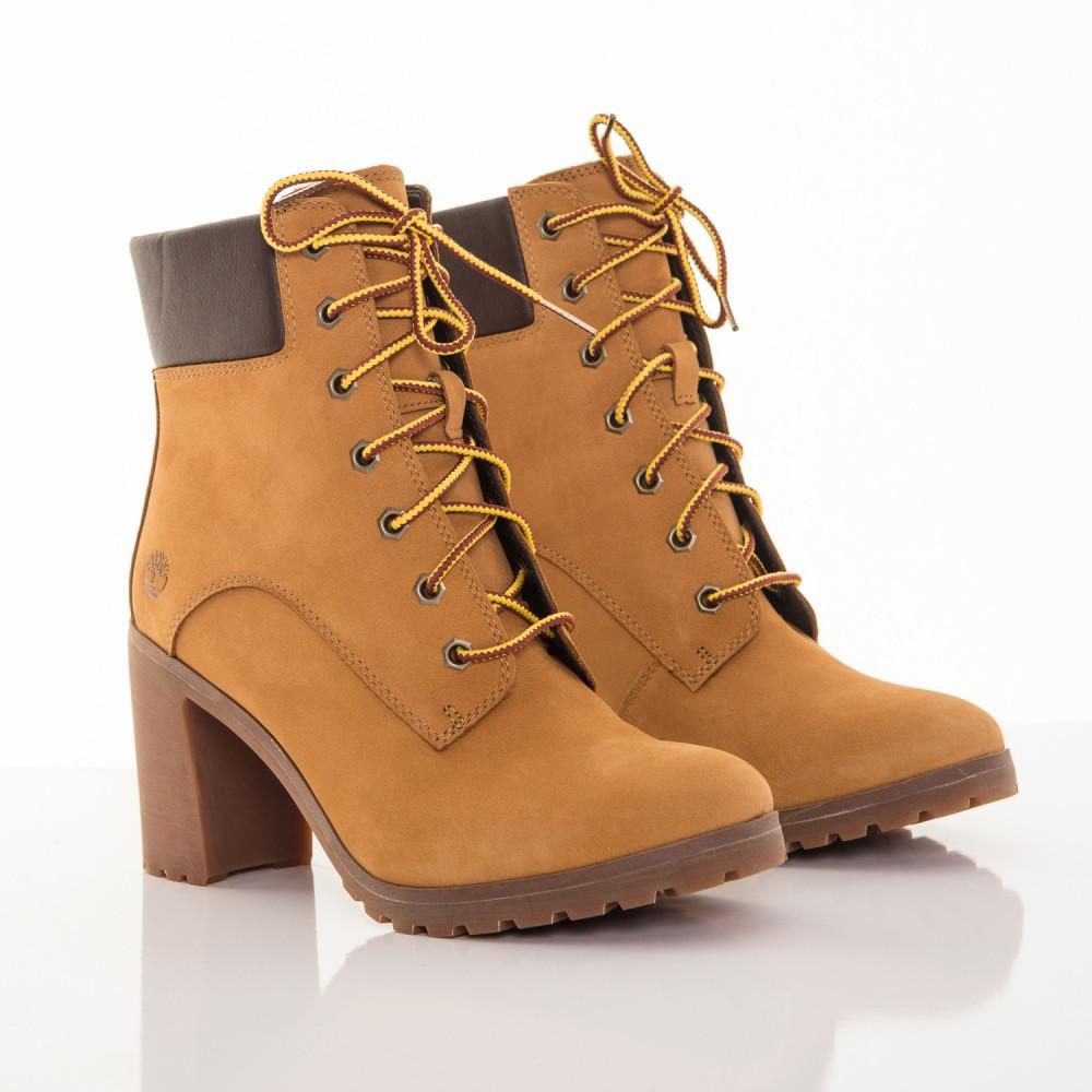 fba9d8fbee Dámske žlté kožené zimné topánky na opätku Timberland Allington 6-INCH  1