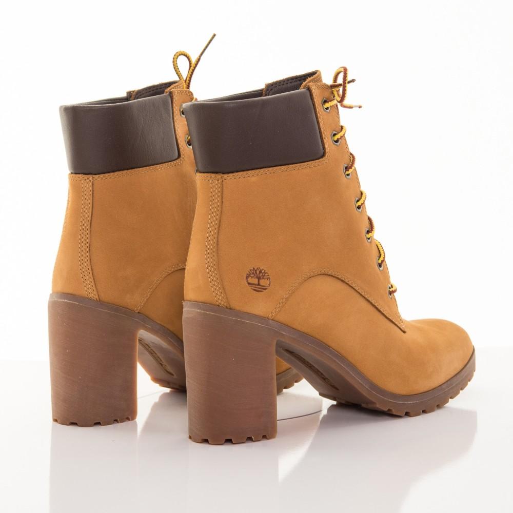 01601778c0 Dámske žlté kožené zimné topánky na opätku Timberland Allington 6-INCH  2