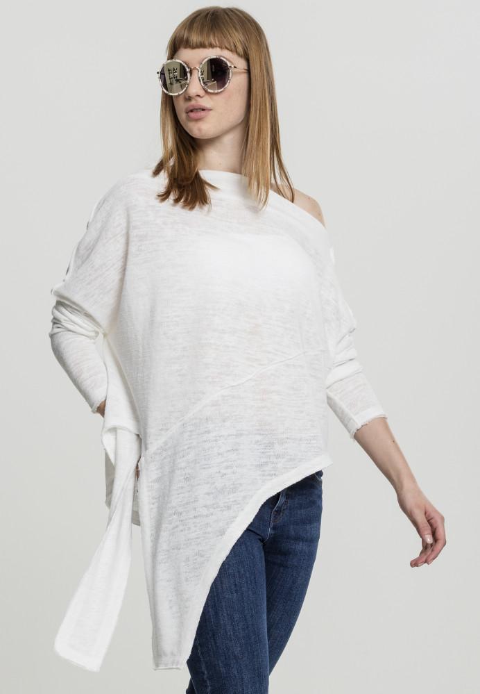 65ee1fca4de3 Dámsky sveter Urban Classics Ladies Asymmetric Sweater biely ...