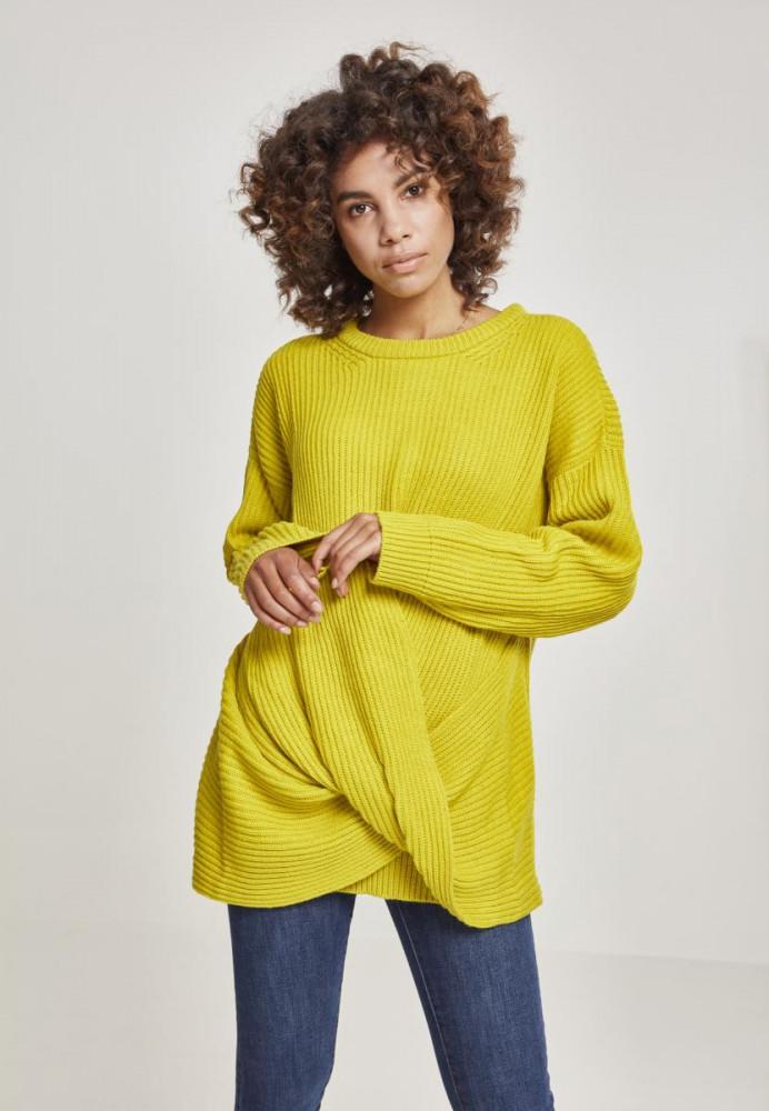 b1e9f666d3d7 Dámsky sveter Urban Classics Ladies Wrapped Sweater žltý - Dámske ...