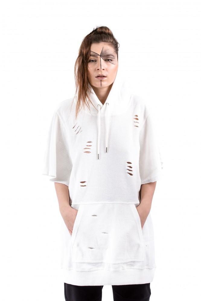 DANNY´S CLOTHING Tričko s křídly bílé UNISEX - M / Barva: Bílá, Velikost: S