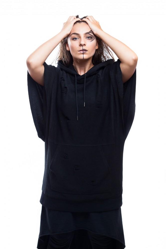 DANNY´S CLOTHING Tričko s křídly UNISEX - L / Barva: Černá