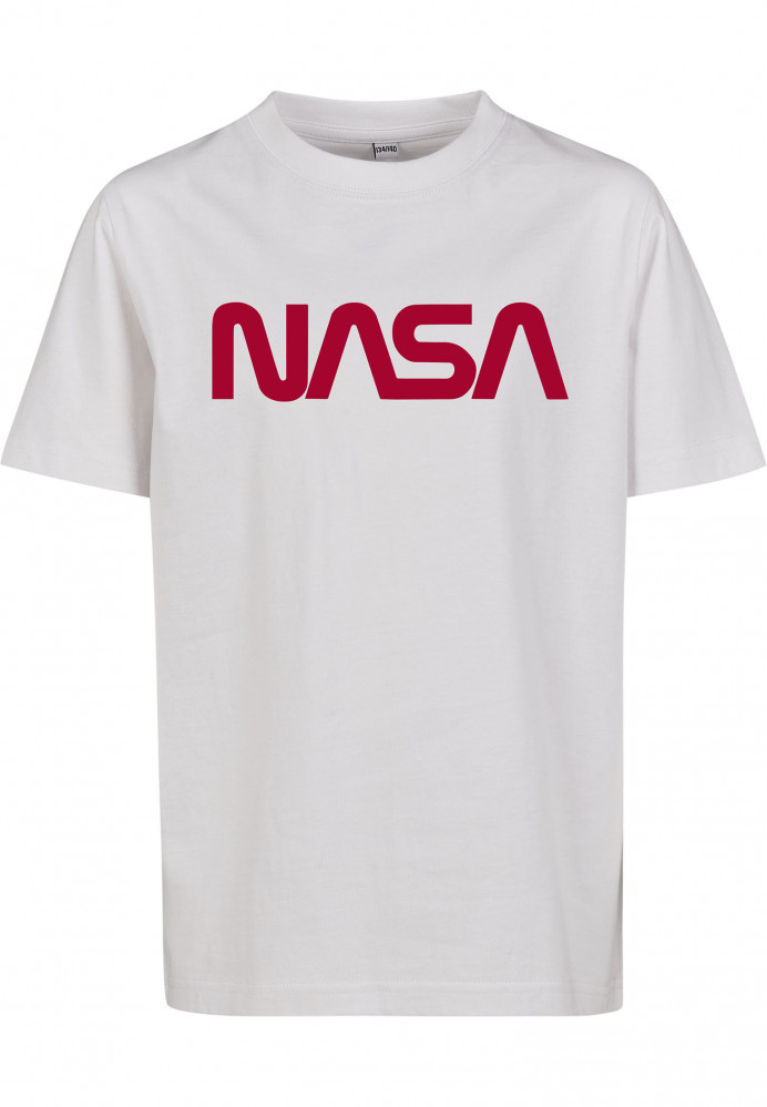 Detské tričko MR.TEE Kids NASA Worm Logo Tee Farba: white,
