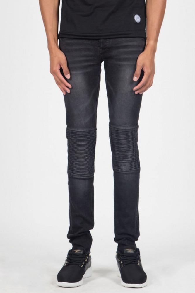 Jeans Sixth June Jean Pleated Black Farba: Čierna,