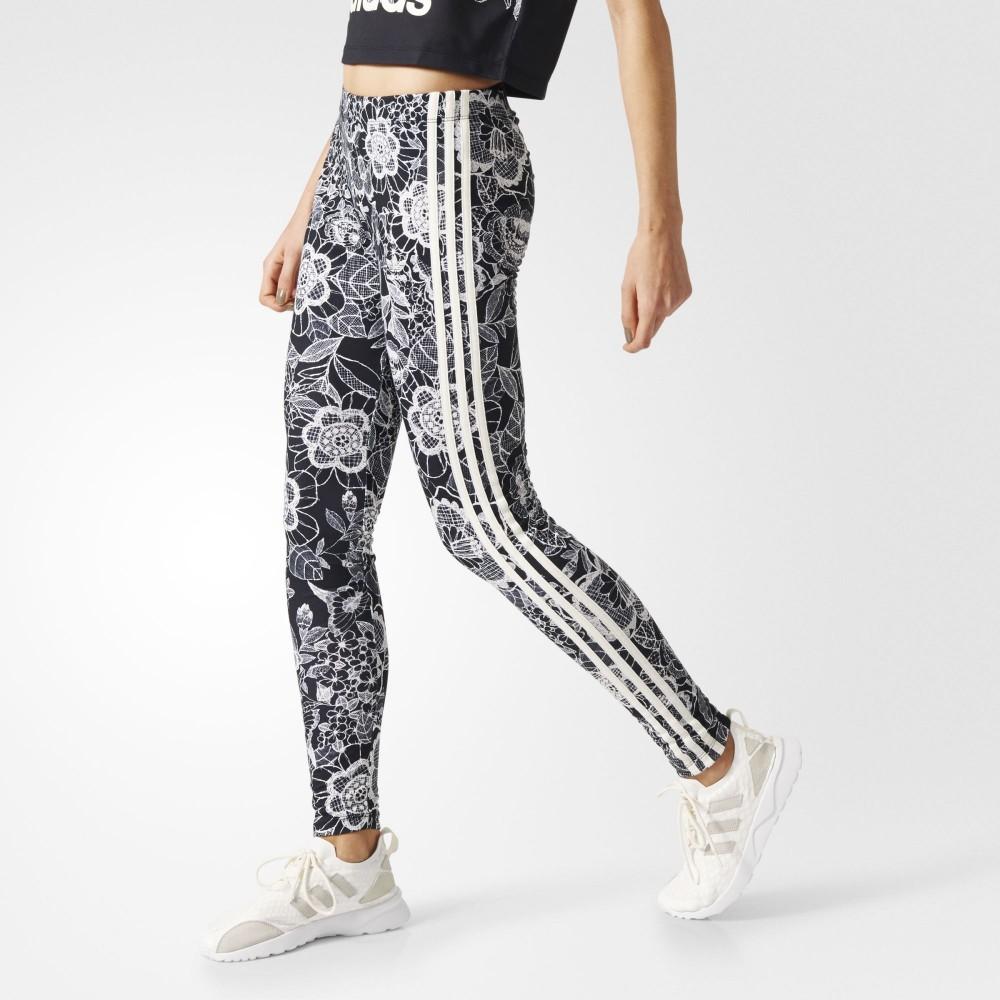 bc884c6ba31 Legíny adidas Originals Florido 3-Stripes Black White - Dámske ...