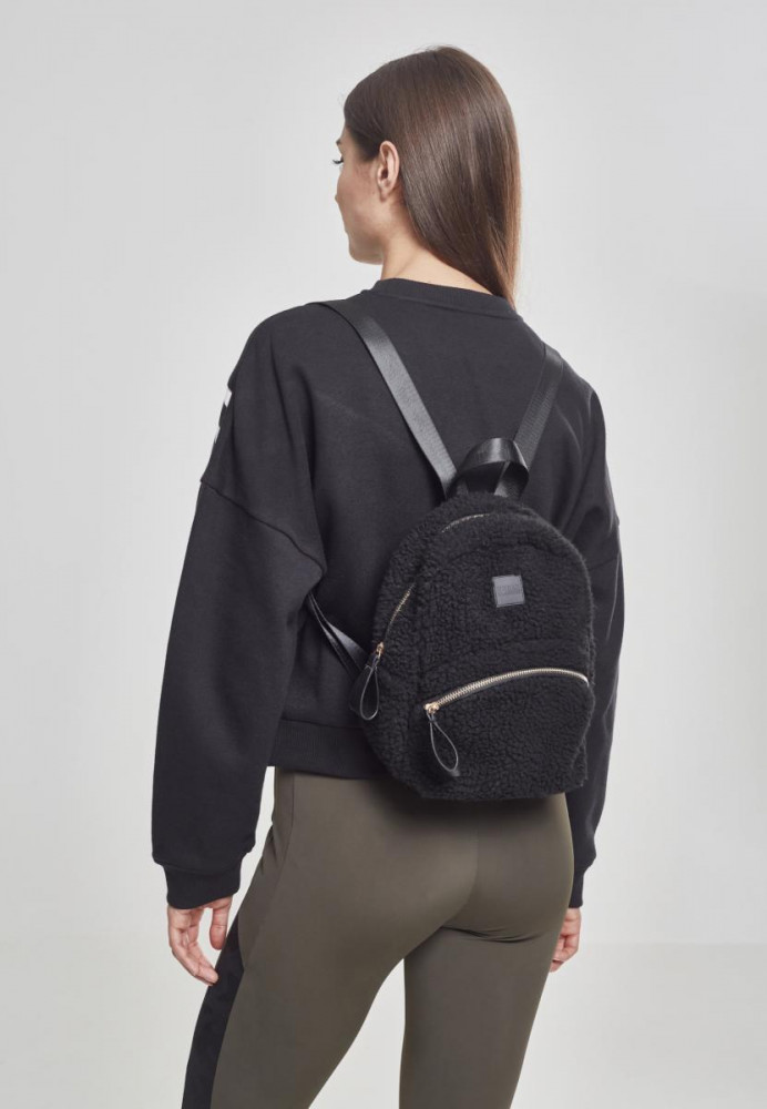 Malý batoh Urban Classics Sherpa Mini Backpack čierny