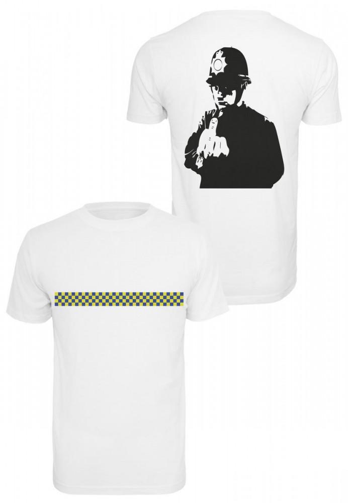 MERCHCODE Pánske tričko Banksy Officer Tee Farba: white,