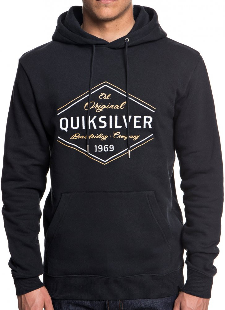 Mikina Quiksilver Nowhere North Hood black M