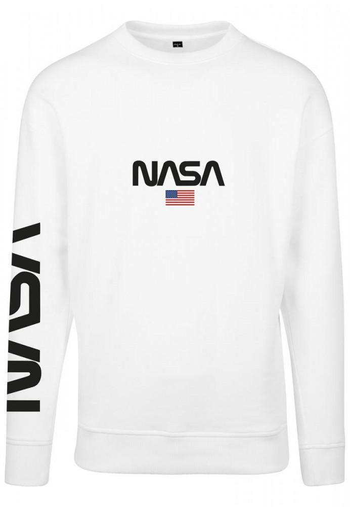 bfcbd3b8a23b MR. TEE Pánska mikina Mister Tee NASA Crewneck white - Pánske mikiny ...