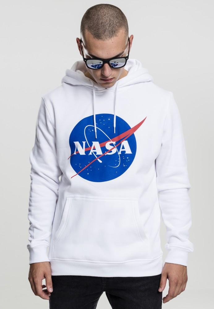 MR. TEE Pánska mikina Mister Tee NASA Hoody white