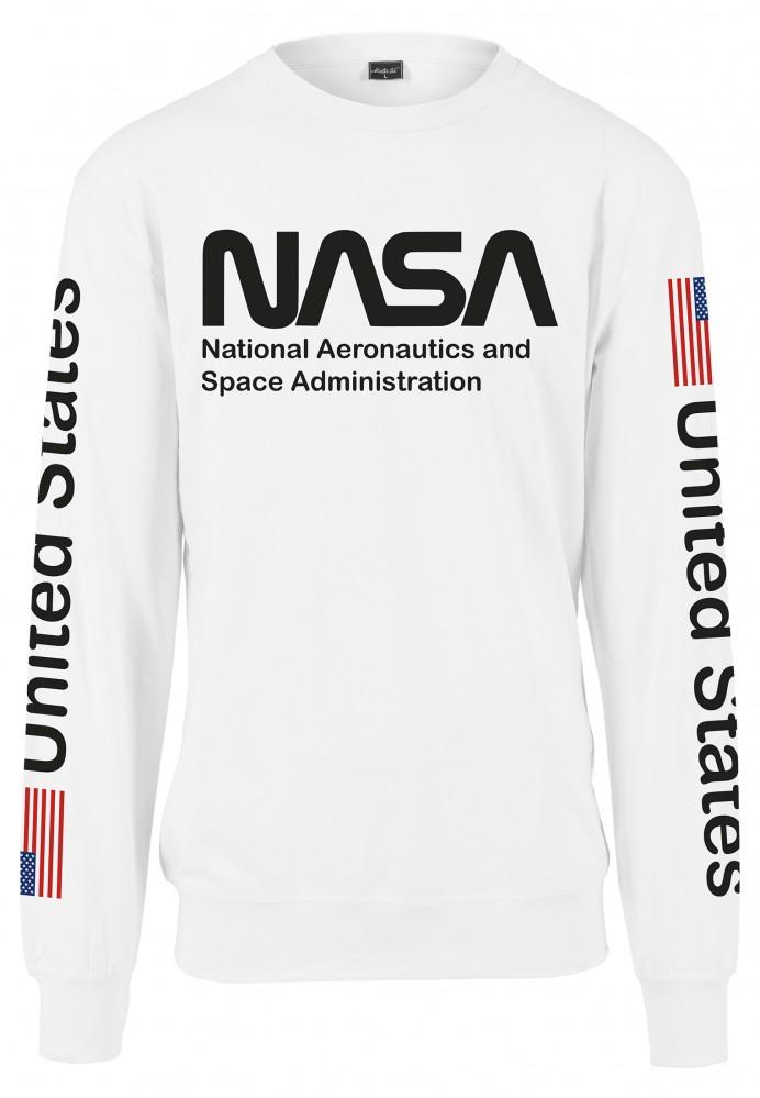MR. TEE Pánska mikina Mister Tee NASA US Crewneck white