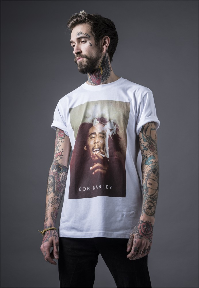 MR. TEE Pánske tričko Mister Tee Bob Marley Smoke Tee white - Pánske ... b723aab303