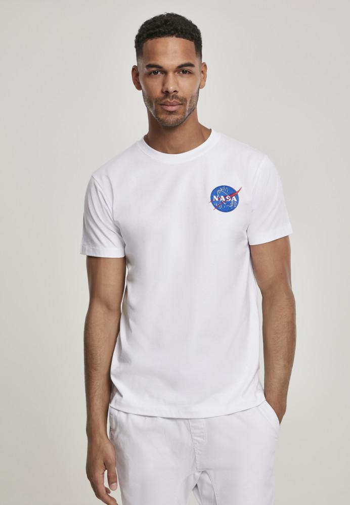 MR.TEE Pánske tričko NASA Logo Embroidery Tee Farba: white,