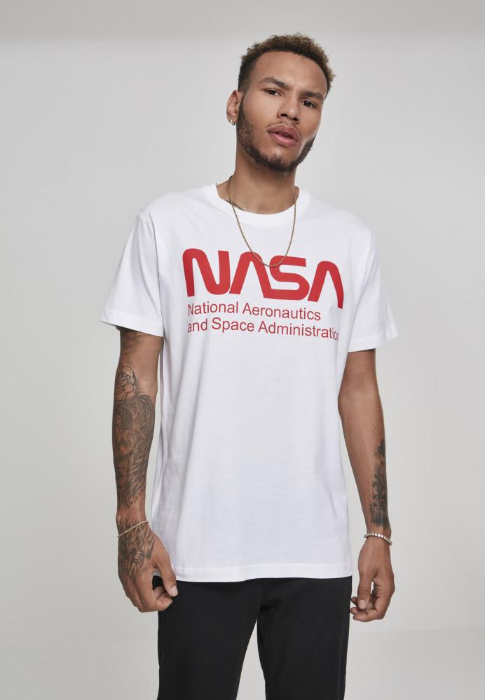 MR.TEE Pánske tričko NASA Wormlogo Tee Farba: white,