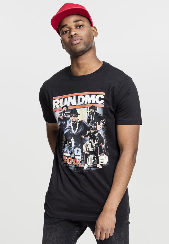 MR.TEE Run DMC King of Rock Tee Farba: black,