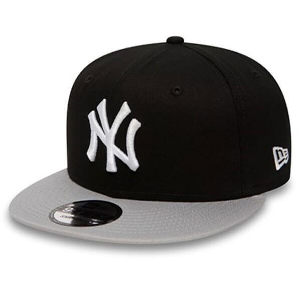 New Era 9Fifty Cotton Block NY Yankees Snapback Black Grey White ... 2433381403f