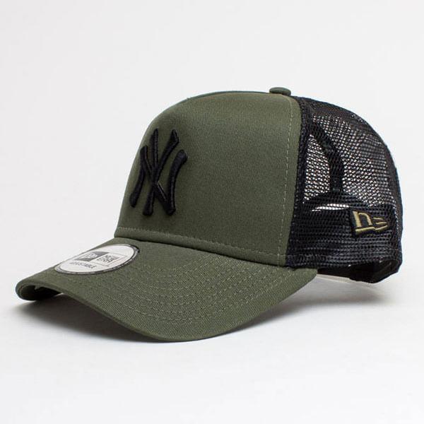 423fde191ba New Era 9Forty A Frame Trucker Cap Essential NY Yankees Army Green - UNI