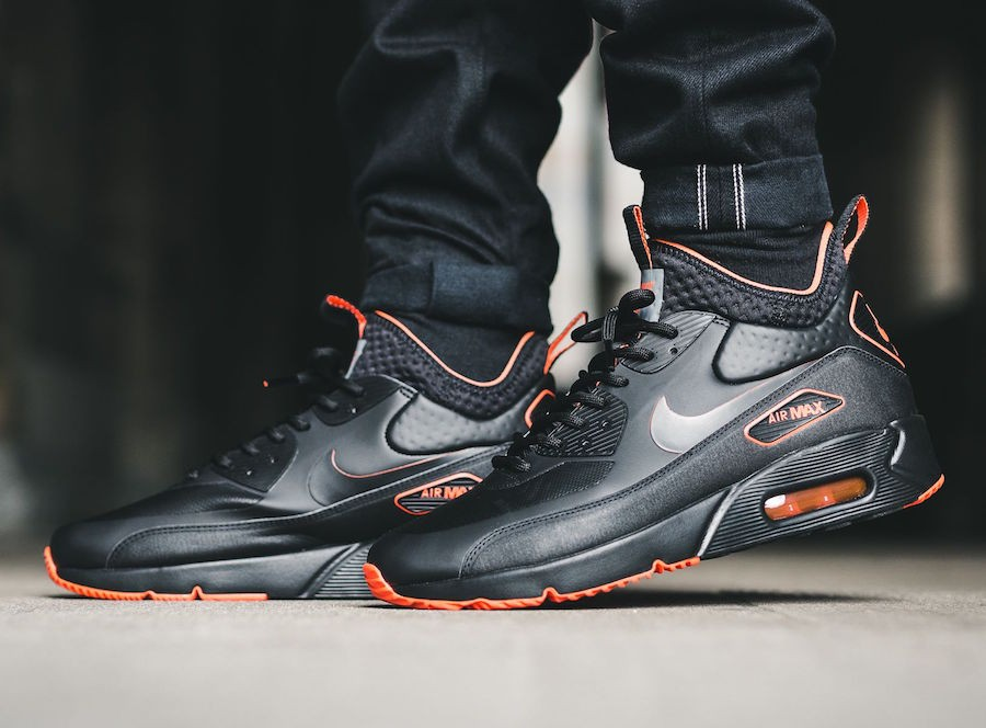 a374942bc753 Nike Pánske tenisky Air Max 90 Ultra Mid Winter SE Black Black Total  Crimson Cool