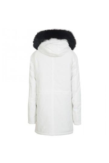 Pánska biela zimná bunda Sixth June Sleeve Taping Parka - Pánske ... 3a8661eb148