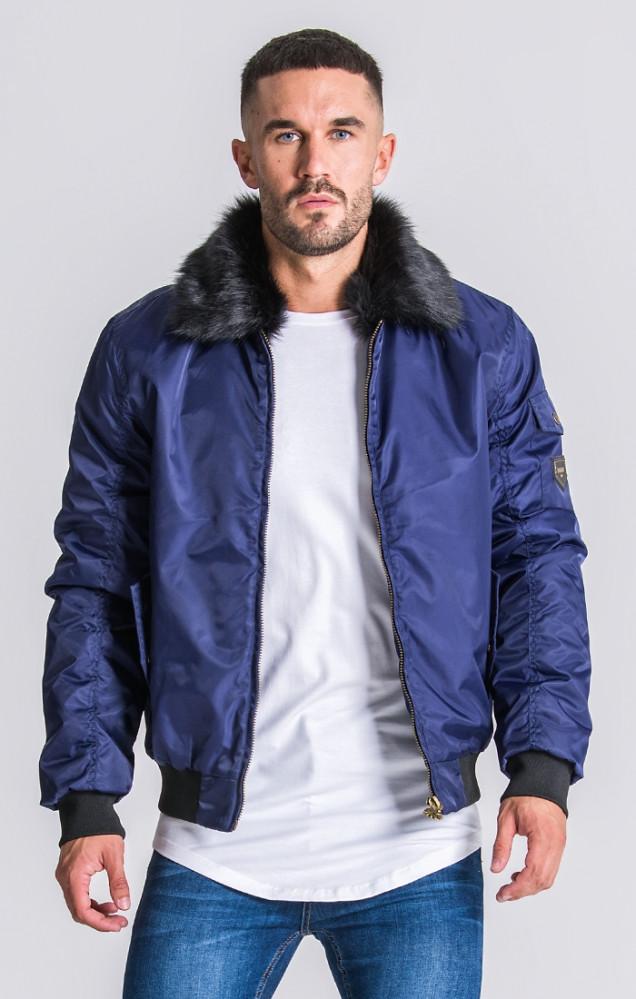 Pánska bunda Gianni Kavanagh Navy Blue Vintage Coat Pohlavie: pánske, Velikost: S