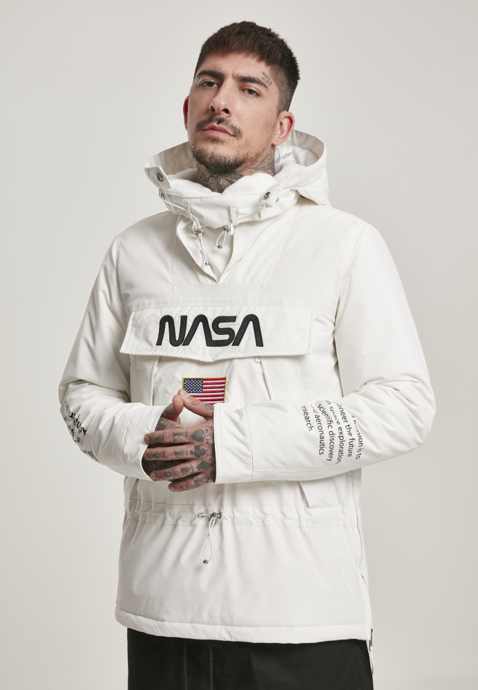 Pánska bunda MR.TEE NASA Windbreaker Farba: cool grey,