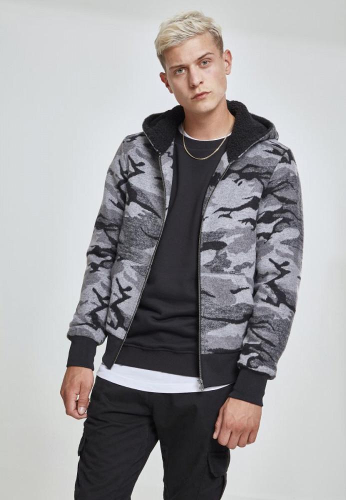 Pánska Bunda Urban Classics Camo Zip Jacket