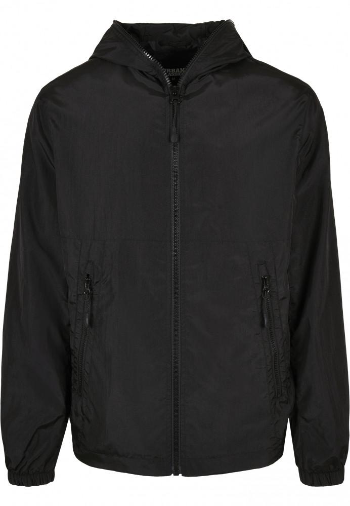 Pánska bunda Urban Classics Full Zip Nylon Crepe black
